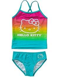 113048355 Girls Sanrio Hello Kitty Rainbow Tankini Swimsuit (Large / 10-12)