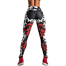 Mujeres Gym Leggings,Pantalones Deportivos Yoga elásticos de Cintura Alta Mujer,Mallas Deportes para Running Fitness Entrenamiento Mujer por Venmo