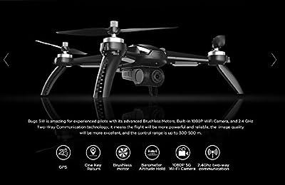 FEICHAO MJX Bugs 5W B5W RC Quadcopter GPS Drone with 1080P WIFI FPV Camera by Feichao