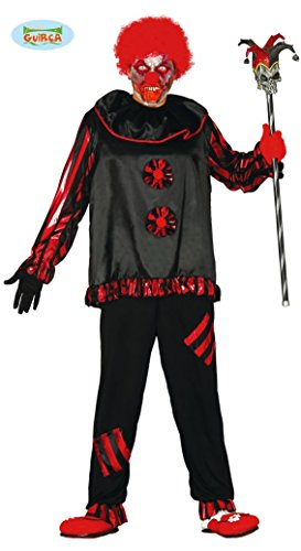 Zombie Clown Kostüm für Herren Gr. M/L, Größe:L (Zombie Clown)