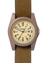 Bertucci 13365Unisex policarbonato marrón nailon caqui de patrulla de banda Dial reloj inteligente