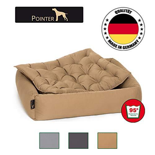 Pointer Set - Cama para Perro con Almohada, Cómodo Casa para Mascotas, Cesta Rectangular, Colchoneta...