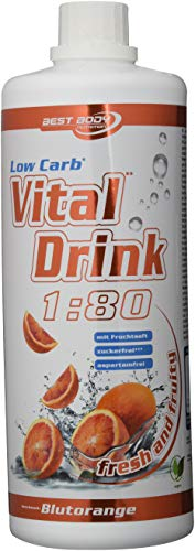 Best Body Nutrition Vital Drink Blutorange, Getränkekonzentrat, 1000 ml Flasche (Für Energy-drinks Kinder)