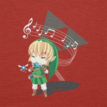 TEXLAB - Link playing Flute - Herren Langarm T-Shirt Rot ...