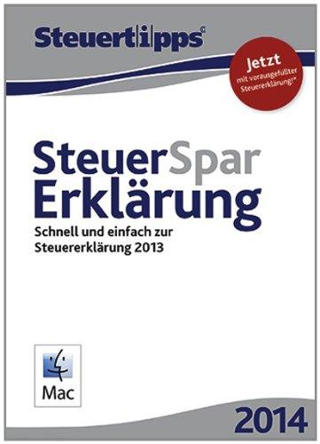 Steuer-Spar-Erklärung 2014 Mac-Version (für Steuerjahr 2013) [Download]
