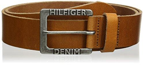 Tan Herren Jeans (Hilfiger Denim Herren Gürtel Original thd belt, Gr. 100 cm, Beige (TAN 950))