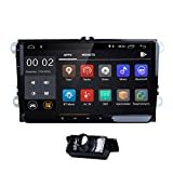 9 Inch Android 7.1 Car Stereo Video Receiver for VW Jetta Passat Golf Polo Tiguan Quad Core System RAM GPS Navigation Bluetooth USB Radio Backup Rear Camera WIFI + Optional 4G OBD2 DVR DVB-T DAB +