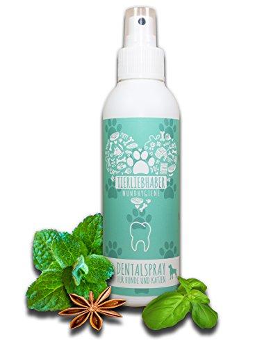 TIERLIEBHABER Dentalspray (150ml) für Hunde und Katzen | Frischer Atem | Mundhygiene | Zahnfleischpflege | Anti Mundgeruch | Anti-Zahnbelag Formel mit fermetierten Kräutern