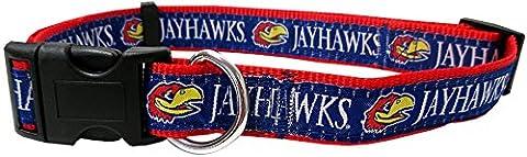 Pets ersten Collegiate Universität von Kansas Jayhawks Pet Halsband,