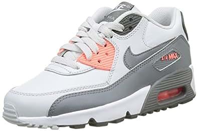 Nike Unisex-Kinder Air Max 90 Ltr Gs Sneakers, Elfenbein (Pure Platinum/cool Grey/Lava G), 36 EU