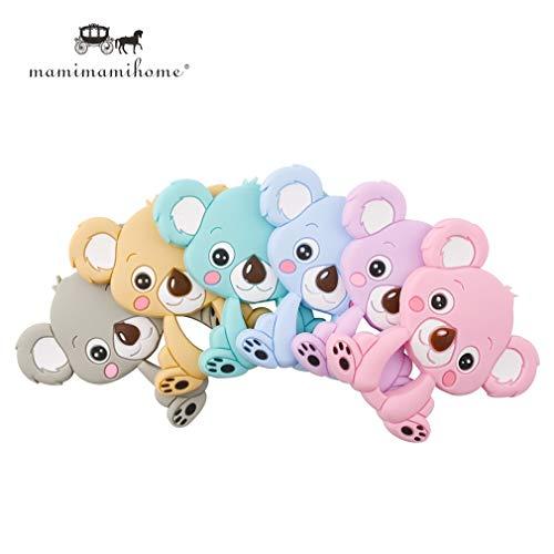 Mamimami Home 5pc Beißring Silikon Koala DIY Zahnen Halskette Babyarmband Schnullerkette Basteln Anhänger Montessori Material Baby Pflege