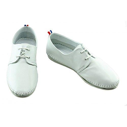 Aerobics Zen Free Mocassins Blanc Confortable Feng Shui à Lacets C-Blanc