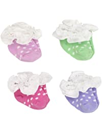 SweetFeet Frilly Dot Baby Girl's Socks
