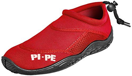 PI-PE Active Badeschuhe Aqua Shoes Damen Herren Schwimmschuhe Strandschuhe Red