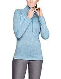 Under Armour Tech 1/2 Zip-Twist Parte Superior del Calentamiento, Mujer, Azul, XL
