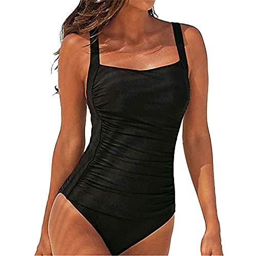 SEDEX Badeanzug Damen Sexy Einteiler Badeanzug Damen Bauchweg Monokini Sport Bademode Frauen Mollige Große Größe Schwimmanzug -