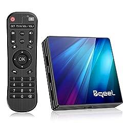 Bqeel Android TV Box Smart tv Box /4G+64G/ R1 Plus Android 9.0 TV Box mit RK3318 Quad-Core 64bit Cortex-A53/ unterstützt WiFi 2.4G/5.0G /BT 4.0/ 4K/USB 3.0/ TV Box 4K Android Box