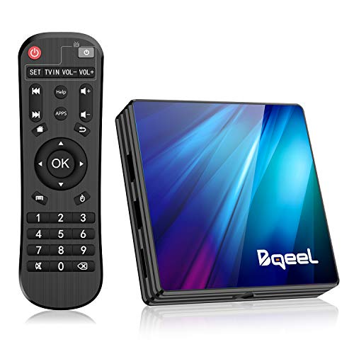 Bqeel Android 9.0 TV Box R1 PLUS, 4GB RAM+64GB ROM / CPU RK3318 Quad-Core 64bit /Dual WIFI 2.4/5G + 100M LAN, TV box android AV/Dolby H.265 3D 4K UHD Smart TV box