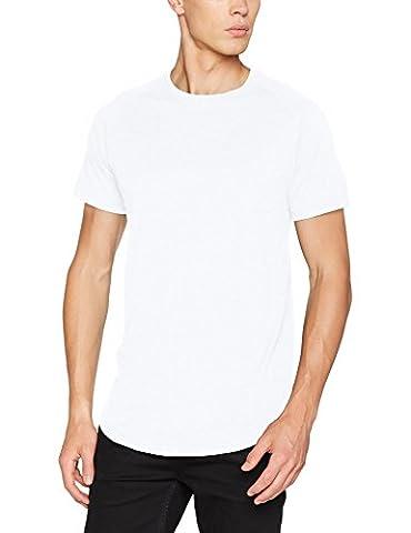 JACK & JONES Herren T-Shirt Jcorafe Tee SS Crew Neck Noos Weiß (White Fit:Reg), Large