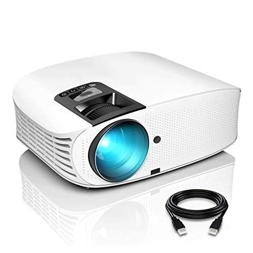 Projektor 3600 Lumen HD Videoprojektor 200 '' Heimkino-LCD-Filmprojektor Unterstützung 1080P HDMI VGA AV USB Ideal für Home Entertainment Party Games, Weiß
