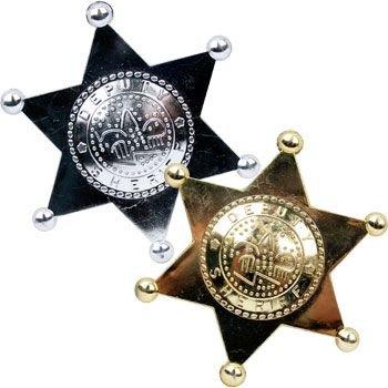 Fun Express Plastic Sheriff Deputy Badges - 12 Piece Pack