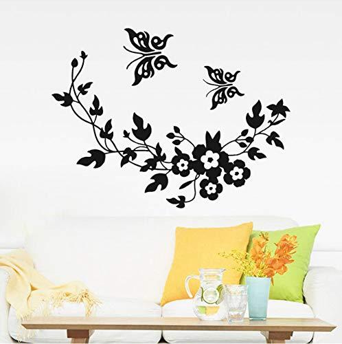Wuyyii Schmetterling Blume Rebe Wc Aufkleber Selbstklebende Benutzerdefinierte Wasser Kann Schlafzimmer Hintergrund Wohnkultur Vinylwand Entfernt Werden