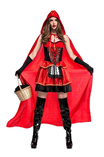 Hood Kostüme Red Little Frauen Halloween Riding (Frauen Kleine Red Halloween Kostüm)