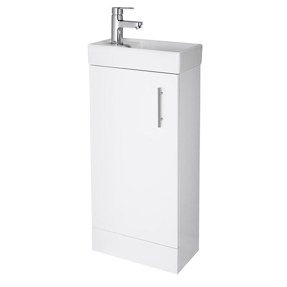 Premier Nvc180a 555 Mm High Gloss 2 Door Corner Mayford Vanity Unit And  Basin  White: Homebathroom: Amazon: Diy & Tools