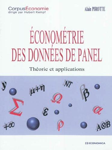 Econométrie des données de panel : th�...