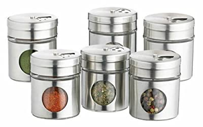 Home Made Set of 6 Stainless Steel Spice Jars from Kitchen Craft
