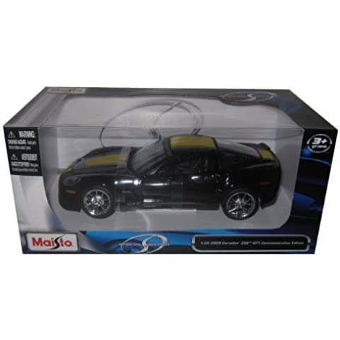 2009 Chevrolet Corvette C6 Z06 GT1 Commemorative Edition 1/24 Black by Maisto Tech