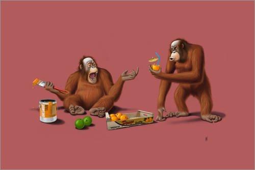 Orange Man (Farbe) von Rob Snow (Orang-utan-füße)