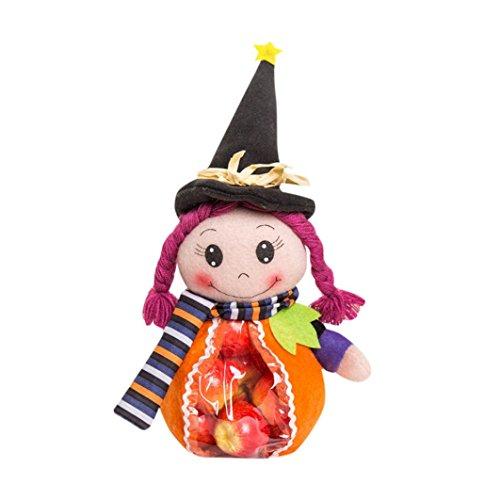 Hunpta Halloween nette Hexe Süßigkeit Beutel Verpackungs Kind Partei Speicher Beutel Geschenk (A)