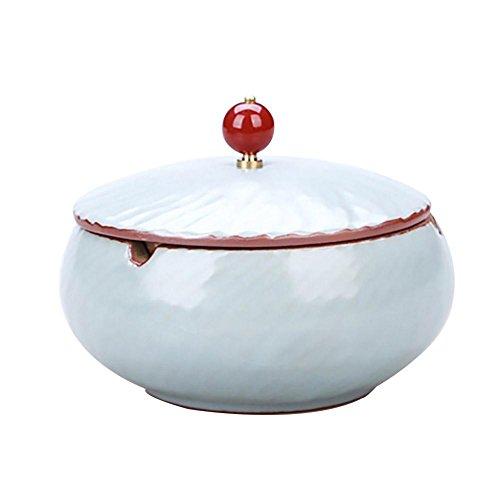 New Chinesische Keramik Aschenbecher mit Einer Abdeckung kreative Geschenk Zigarre Rauch und Rauch eine kleine Couchtisch Hause Dekoration, 25