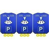 COM-FOUR® 3-pack 4 en 1 disco de estacionamiento con rascador de