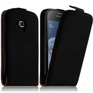 Seluxion - Housse Coque Etui pour Samsung Galaxy Trend S7560 Couleur Noir