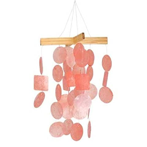 Woodstock Coral Mini Capiz chime- Asli Arts Collection