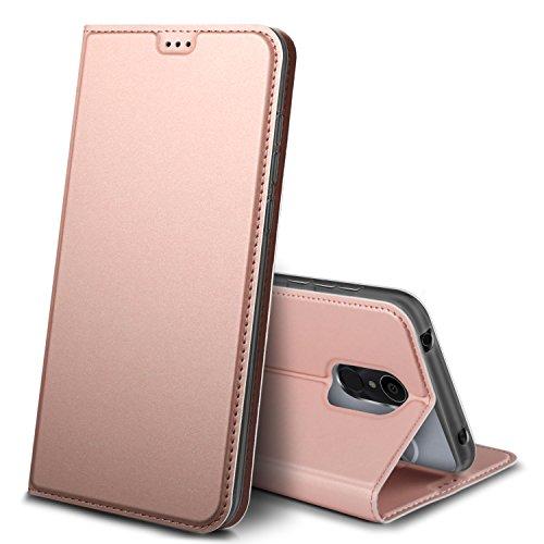 iBetter Alcatel 3C Hülle, Premium Tasche Cover Flip Case [Magnetic Closure] [Standfunktion] Schutzhülle Handyhüllen für Alcatel 3C Smartphone (Rose Gold)