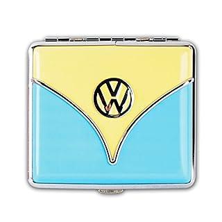 ZIGARETTENETUI VW Bulli Bus T1 Leder 3-Varianten Zigaretten Etui Zigarettenbox Case 05 (Blau)