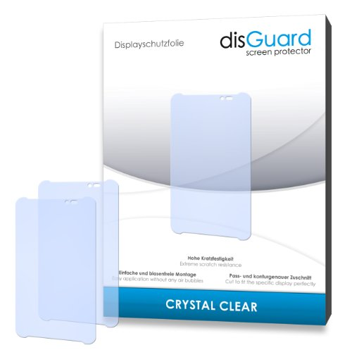 disGuard® Bildschirmschutzfolie [Crystal Clear] kompatibel mit ASUS Fonepad Note 6 [4 Stück] Kristallklar, Transparent, Unsichtbar, Extrem Kratzfest, Anti-Fingerabdruck - Panzerglas Folie, Schutzfolie