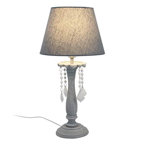 Lampe APOLINE gris antique en métal et MDF