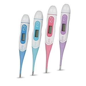L-Care Präzises Basalthermometer zur Zykluskontrolle | Mit gratis eBook zur Verhütung mit der Basaltemperatur oder NFP | Flexible Spitze ideal als Baby-Fieberthermometer | versch. Farben