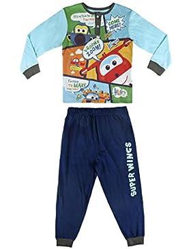 Pijama niño Super Wings celeste y azul dos piezas