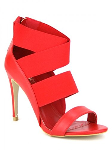 Cendriyon, Sandale LOLA Mode rouge Chaussures Femme Rouge