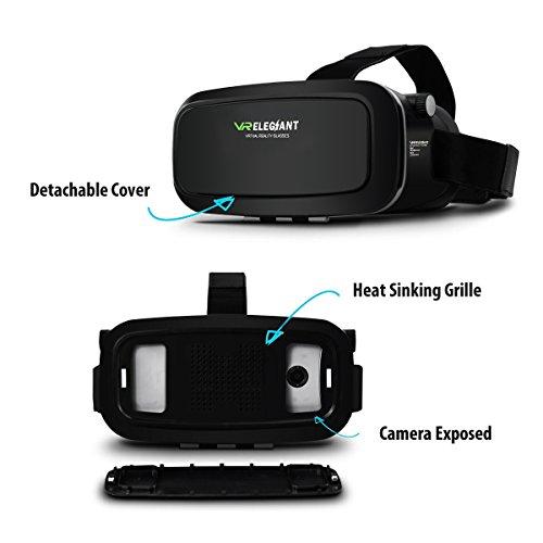 """ELEGIANT Einstellbar Universal 3D VR Virtual Reality Box Brille 3D VR Karton Video Movie Game Brille virtuelle Realität Glasses für 3.5""""-6"""" Android IOS Iphone Samsung Galaxy SONY"""