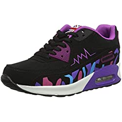 PADGENE Femme Baskets Course Gym Fitness Sport Chaussures Air Violet Taille EU 36