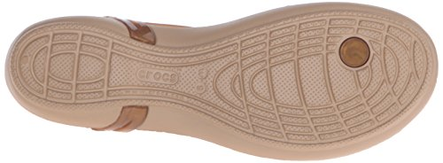 crocs Damen Isabellatstrap Slip On Sandalen Gold (Bronze)