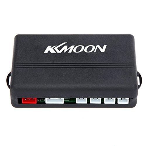 KKmoon Detector de Radar Sistema de Aparcamiento con 4 Sensores de Coche (Rojo)