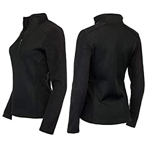Medico Damen Skishirt Funktionsshirt Fleeceshirt Strickdesign Langarm
