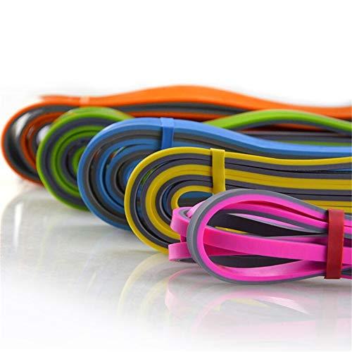 WXH Krafttrainingsbänder, Naturlatex-Trainingsbänder, 5-teiliges Set, zweifarbiges Design, Stretching, Krafttraining, Physiotherapie, Pilates -